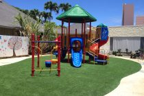 Synthetic Turf International SoftLawn Playground Safety Surface System