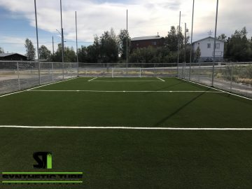 Sports Field Synthetic Turf Application