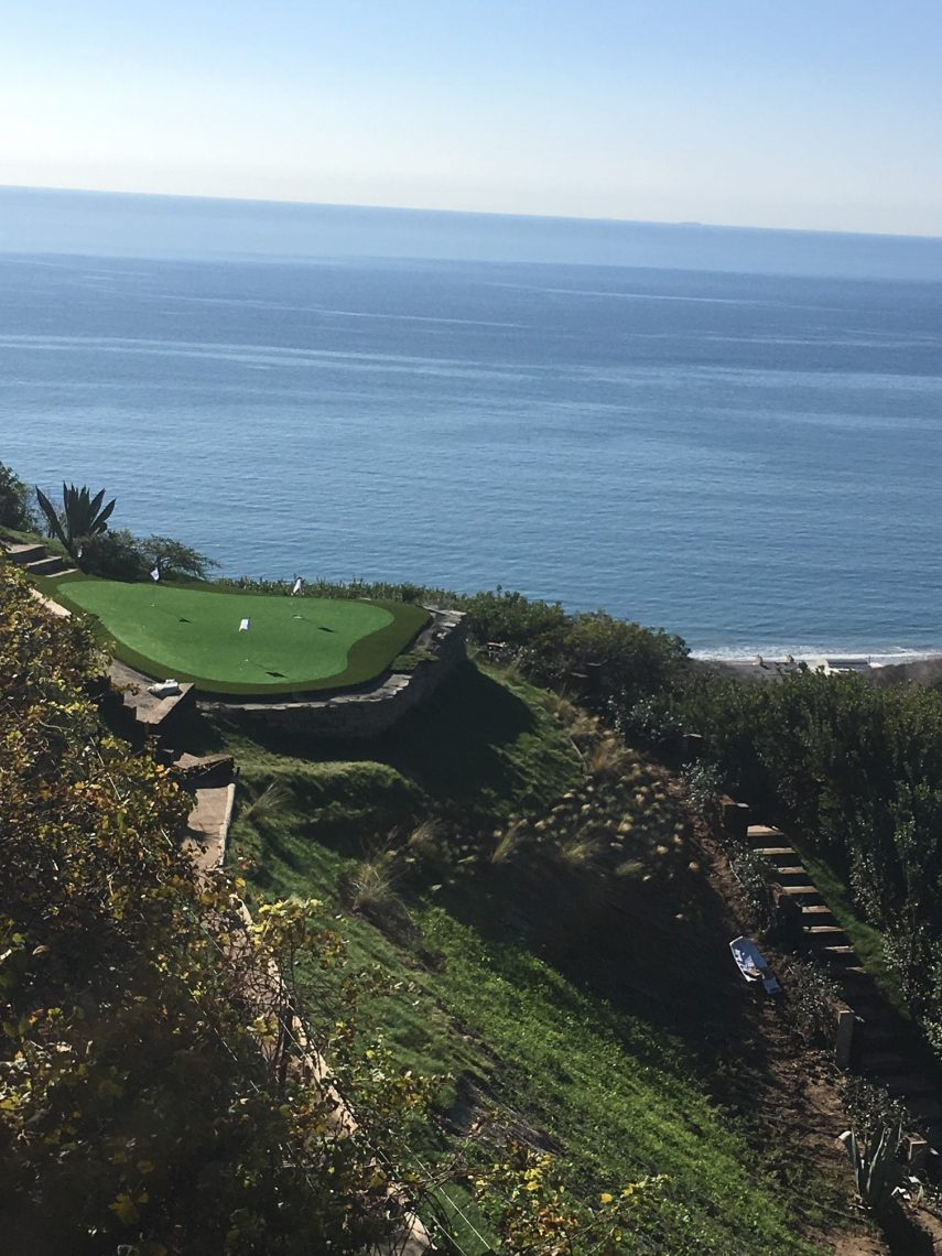 Putting Greens with Ocean Views in Malibu, California - PLAYRITE