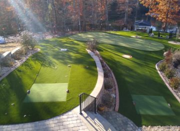 Overview of the Atlanta KC putting green.